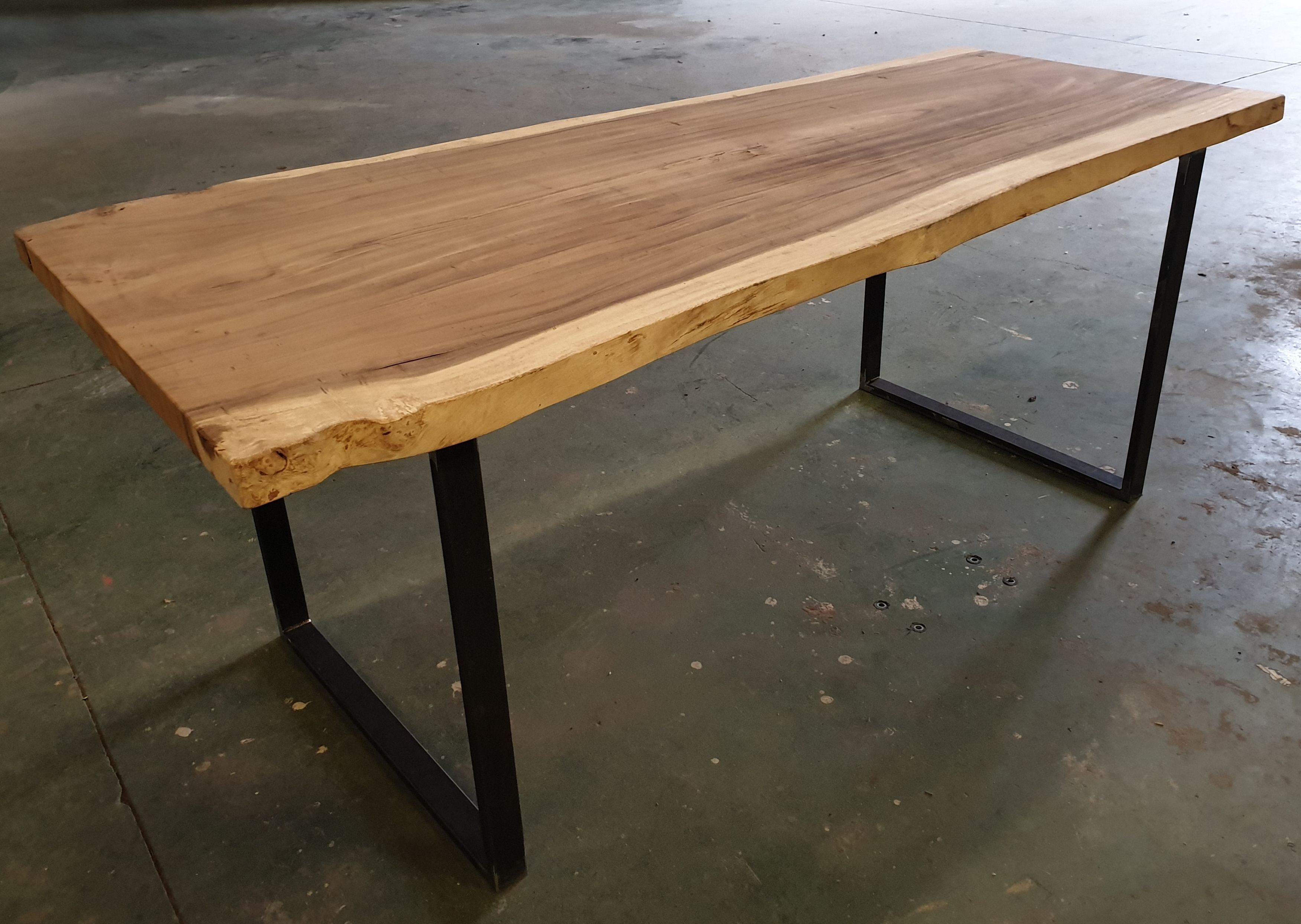 Table Bois Metal Table Bois Bois Plateau Bois