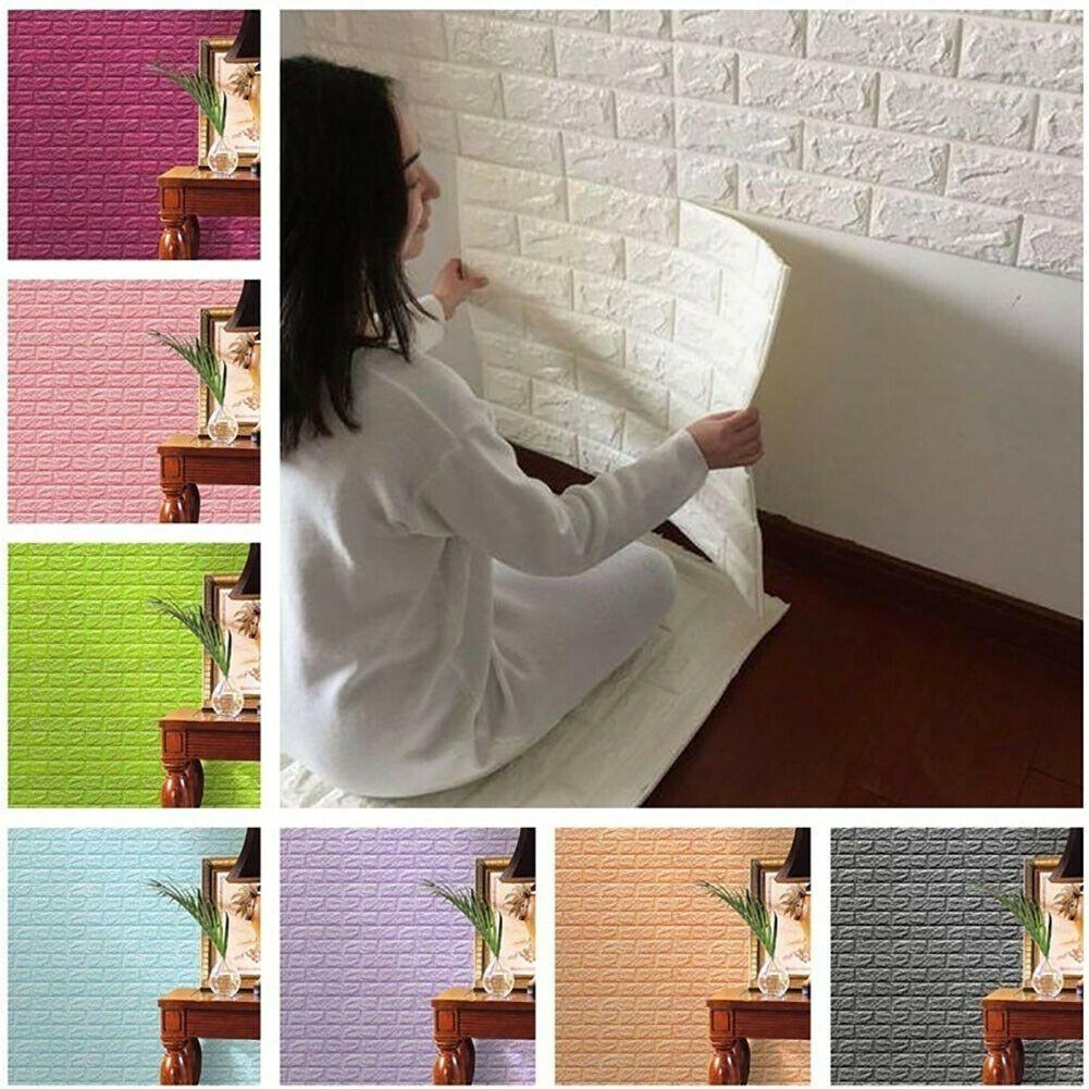 Best 3D Brick Pattern Wallpaper Sticker Living Room Modern Wall 400 x 300