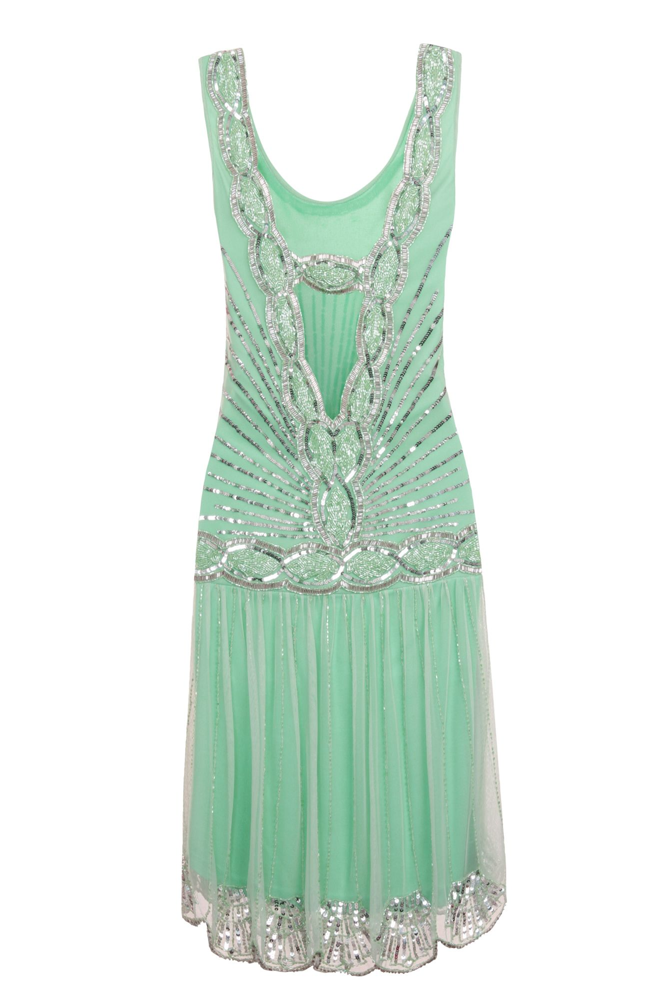 Zelda Flapper Dress Mint/Back View | Dancing Queen | Pinterest ...