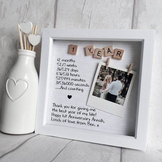 First Anniversary Frame Anniversary Gift Gift For Partner One Year Anniversary Paper Anniversary Gift Anniversary Gift For Wife Paper Gifts Anniversary Boyfriend Anniversary Gifts Cute Boyfriend Gifts