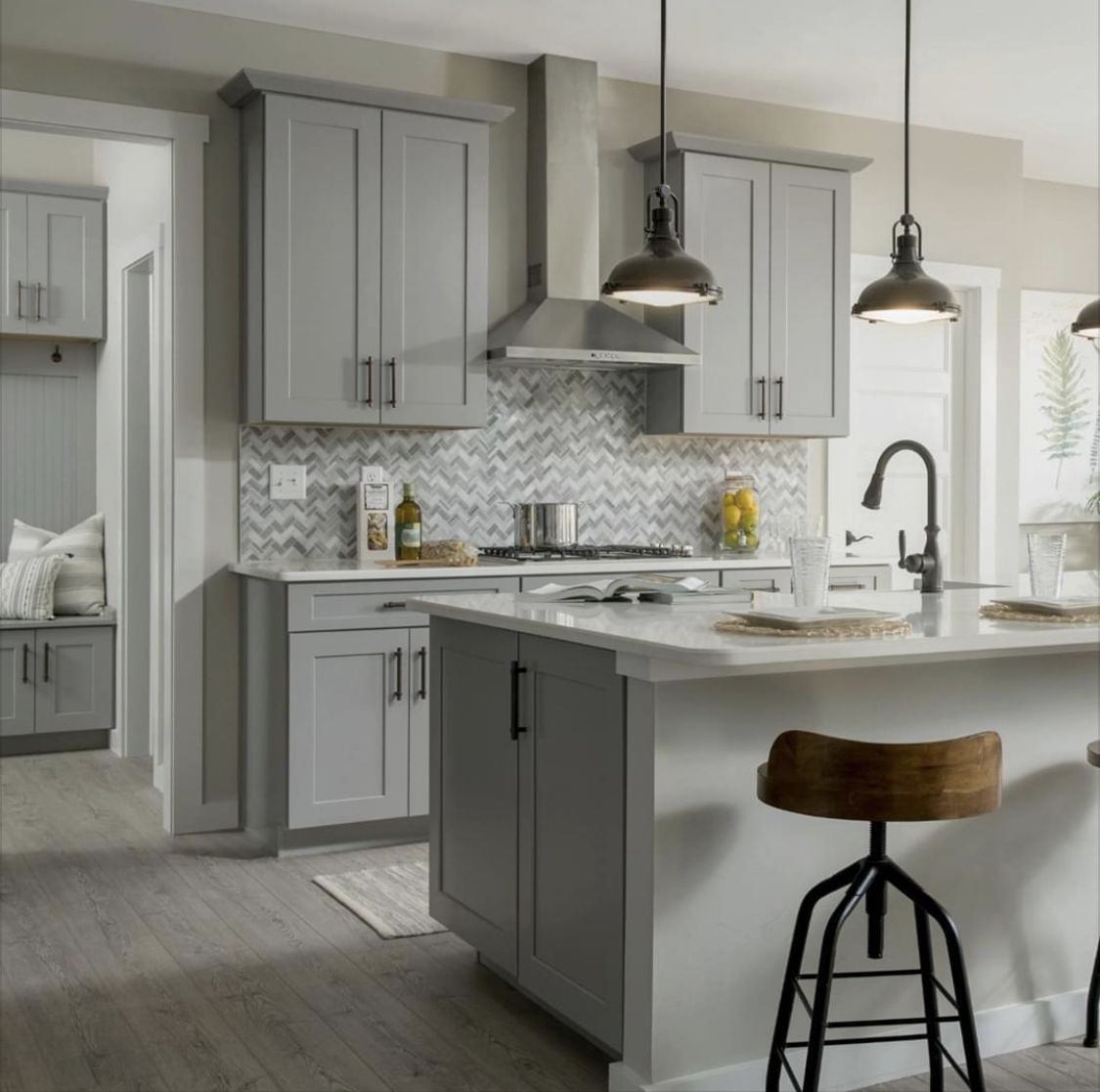 Sherwin Williams Agreeable Gray Cabinets End Of Island Cabinet In 2020 Agreeable Gray Sherwin Williams Kitchen Agreeable Gray Sherwin Williams Grey Cabinets