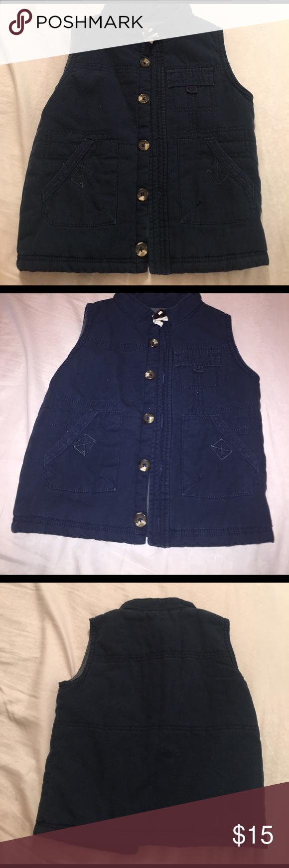 OshKosh Vest Genuine Kids From Oshkosh Navy vest, excellent condition, worn once. Osh Kosh Jackets & Coats Vests