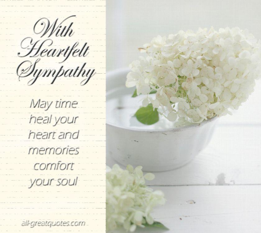 With Heartfelt Sympathy Condolences Pinterest - condolence messages