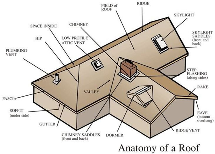 66909af5b637830f1db5a24542615714 roof anatomy diagram showing areas of penetrations and roof lingo