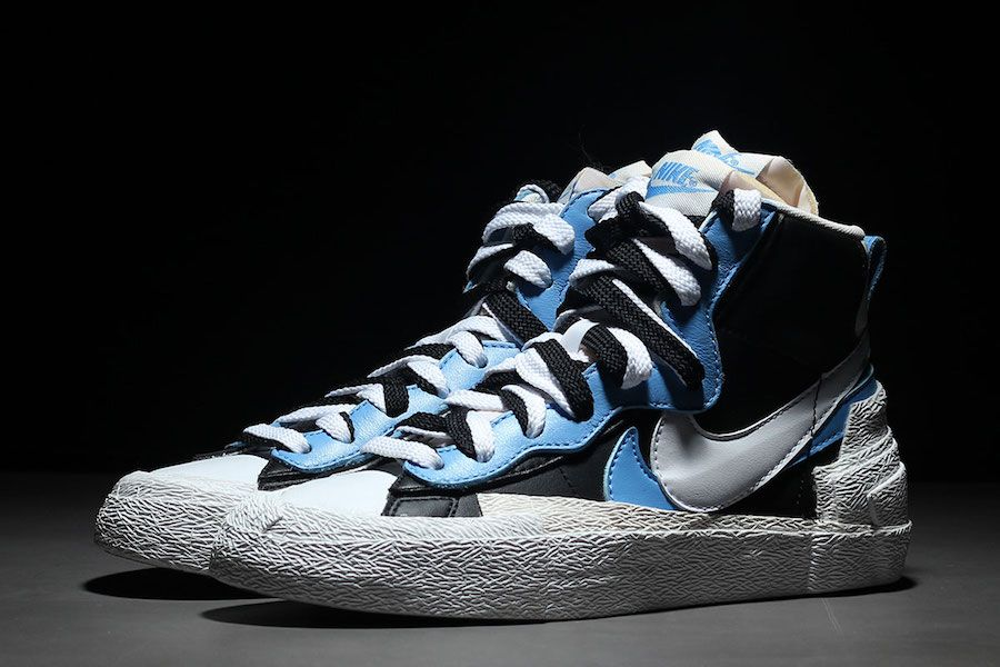 low priced d6d6a 10aed Sacai Nike Blazer Mid Blue BV0072-001 Release Date
