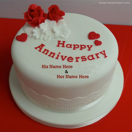 Wish you favourite couple anniversary. Write and print ...