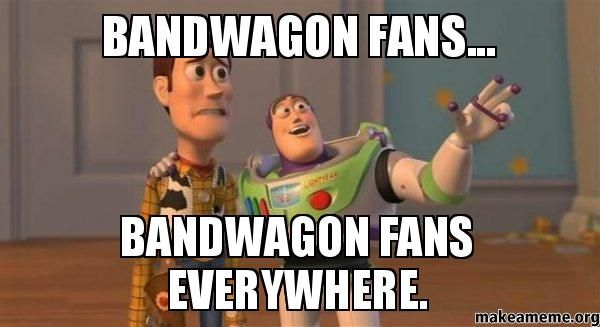 Bandwagon fans... bandwagon fans everywhere. Chicago