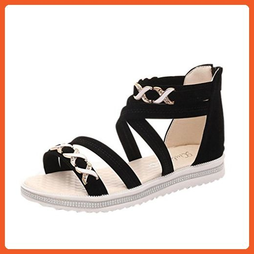 Summer Sandals Inkach Women Summer Soft Leather Casual Sandals Flat Shoes
