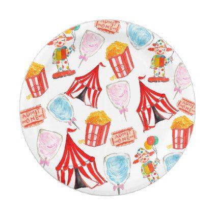 sc 1 st  Pinterest & Cute circus carnival children party paper plates