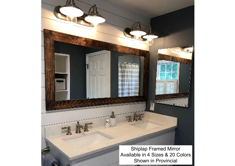 Shiplap Reclaimed Wood Mirror Shown In Provincial 4 Sizes Etsy Reclaimed Wood Mirror Farmhouse Mirrors Rustic Mirrors [ 2113 x 3000 Pixel ]