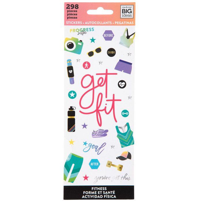 Fitness Stickers Scrapbook paper crafts, Stylish