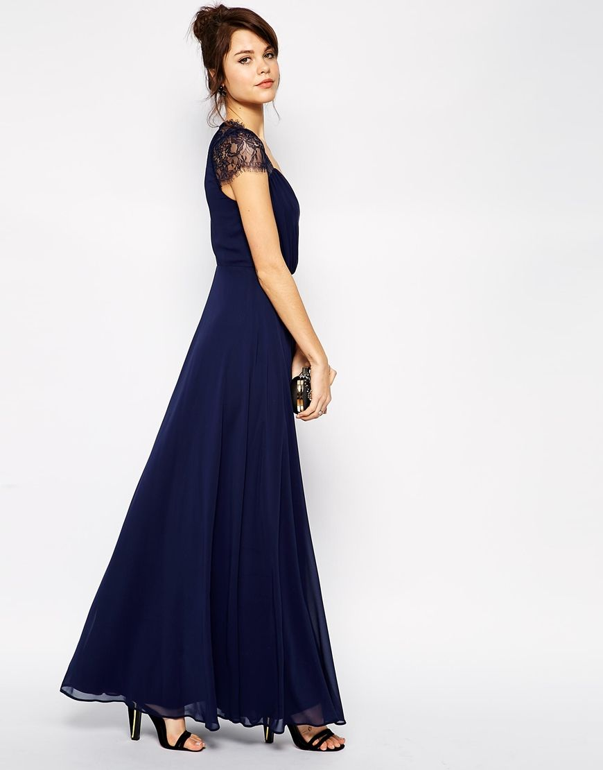 Asos kate lace maxi dress lace maxi maxi dresses and for Navy blue maxi dress for wedding