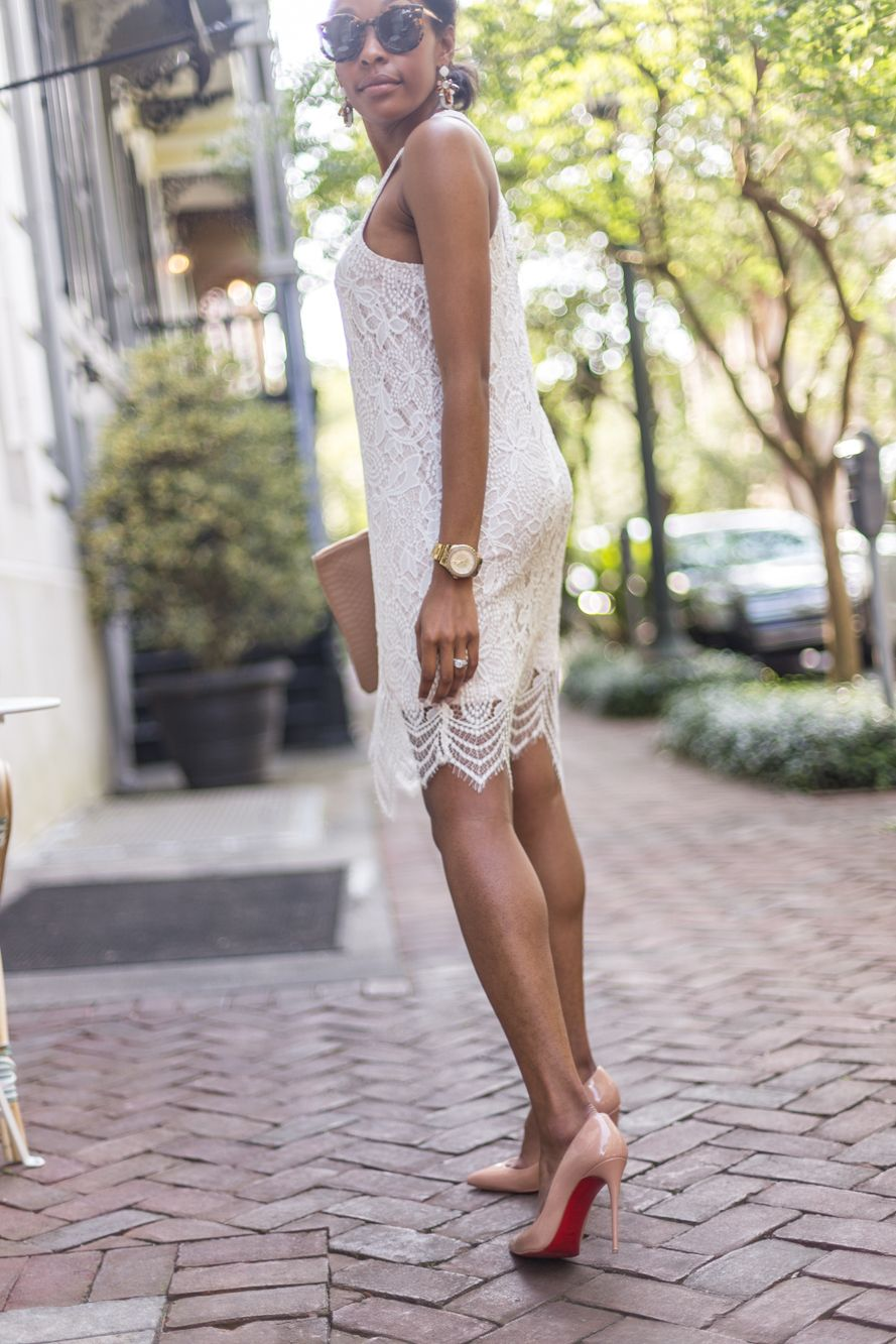 Graduation Day | Live Love and Read | pigalle louboutin outfit, how to style pigalle louboutins, white lace bridal