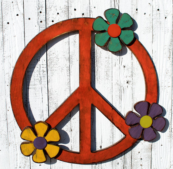 Peace Sign Decorating Ideas Simple Peace Sign Giant Peace Sign 24 Peace Symboltheglitteredpig Inspiration Design