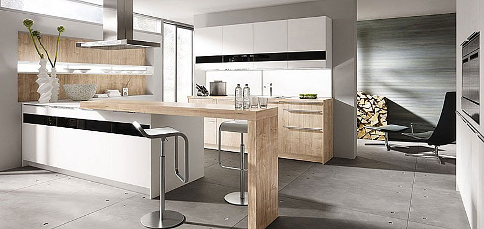 Weiße Küche Mit Theke | Kitchen Inspirations | Pinterest ... | {Moderne küchen mit theke 15}