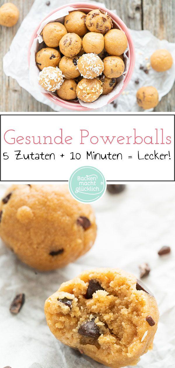 Protein Balls mit Erdnussbutter | Backen macht glücklich