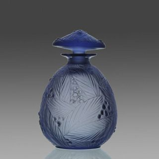 # Art Deco Blue Scent Bottle