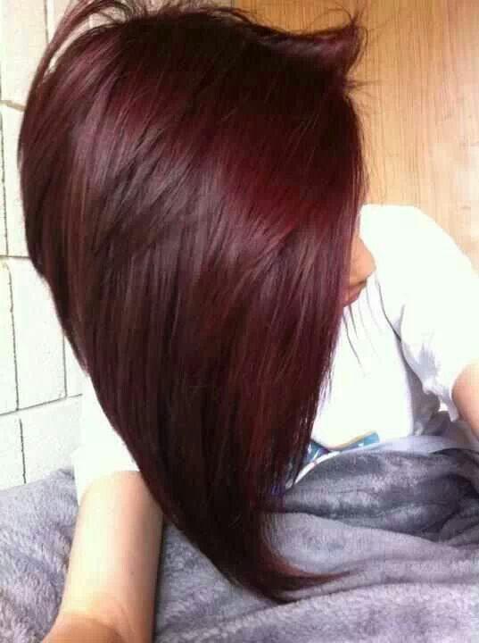 V Shaped Bob Awesome Hair Styles Hair Mahogany Hair Hair Color