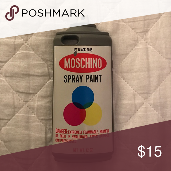 Moschino authenticate iPhone 6/6s spray paint iPhone case! Little wear as show Moschino Accessories Phone Cases