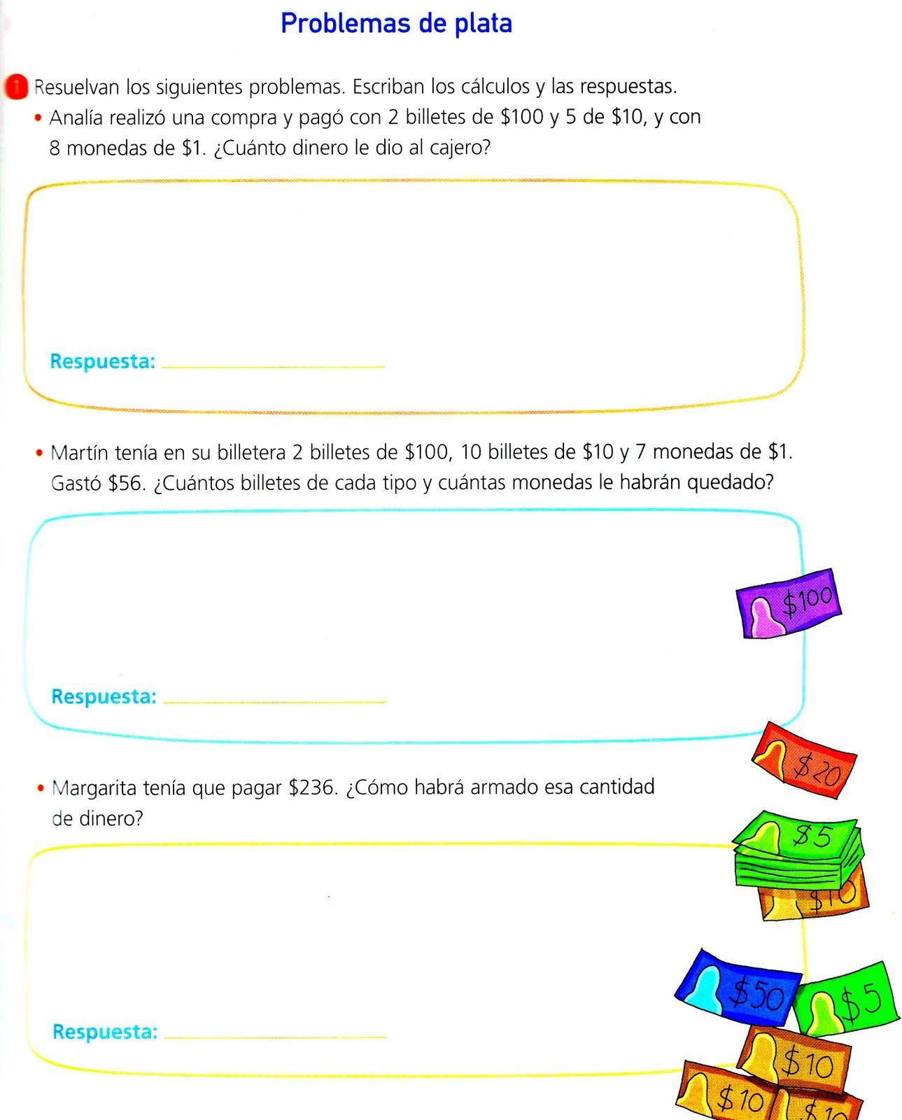Sistema Monetario4 Jpg 1289 1600 Problemas Matemáticos Billetes Actividades De Matematicas
