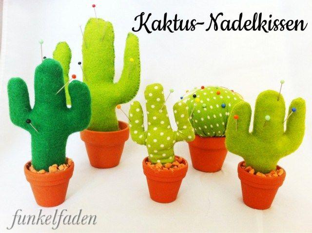 anleitung kaktus nadelkissen n hen n hanleitung f r kaktus anleitungen do it yourself. Black Bedroom Furniture Sets. Home Design Ideas