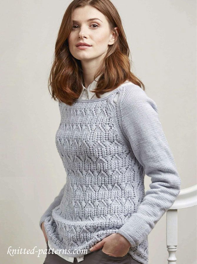 Wide-neck raglan jumper knitting pattern free | Knits | Pinterest ...