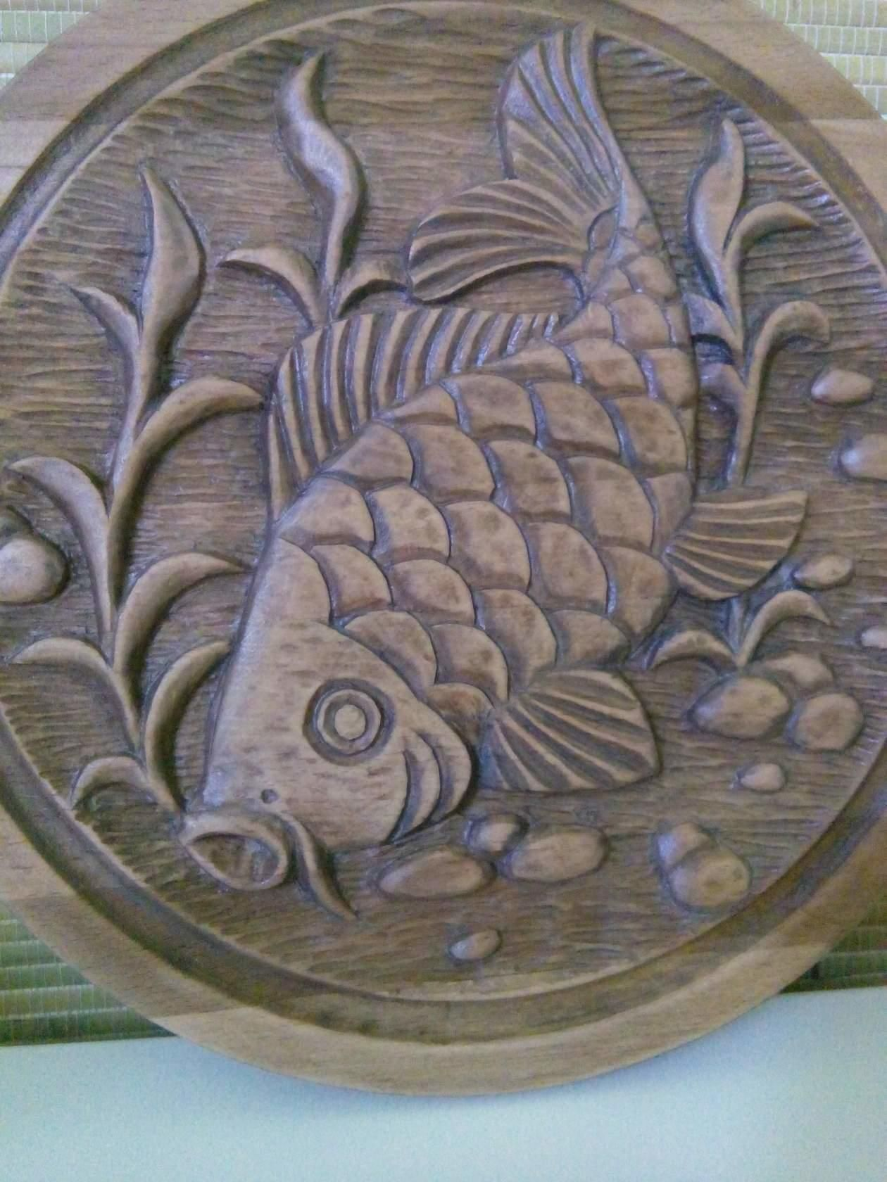 Одноклассники fish wood carving woodcarving