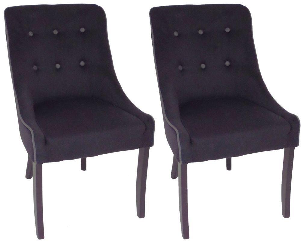 Rv Astley Adrino Black Dining Chair Pair Black Dining Chairs