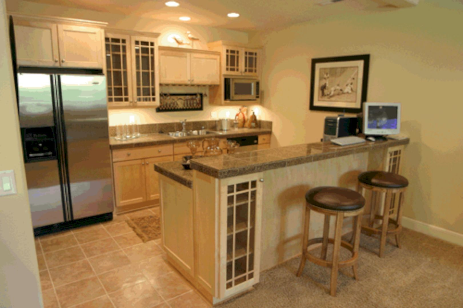 Top 9 Kitchen Organization Tips for Small House   Basement kitchen ...