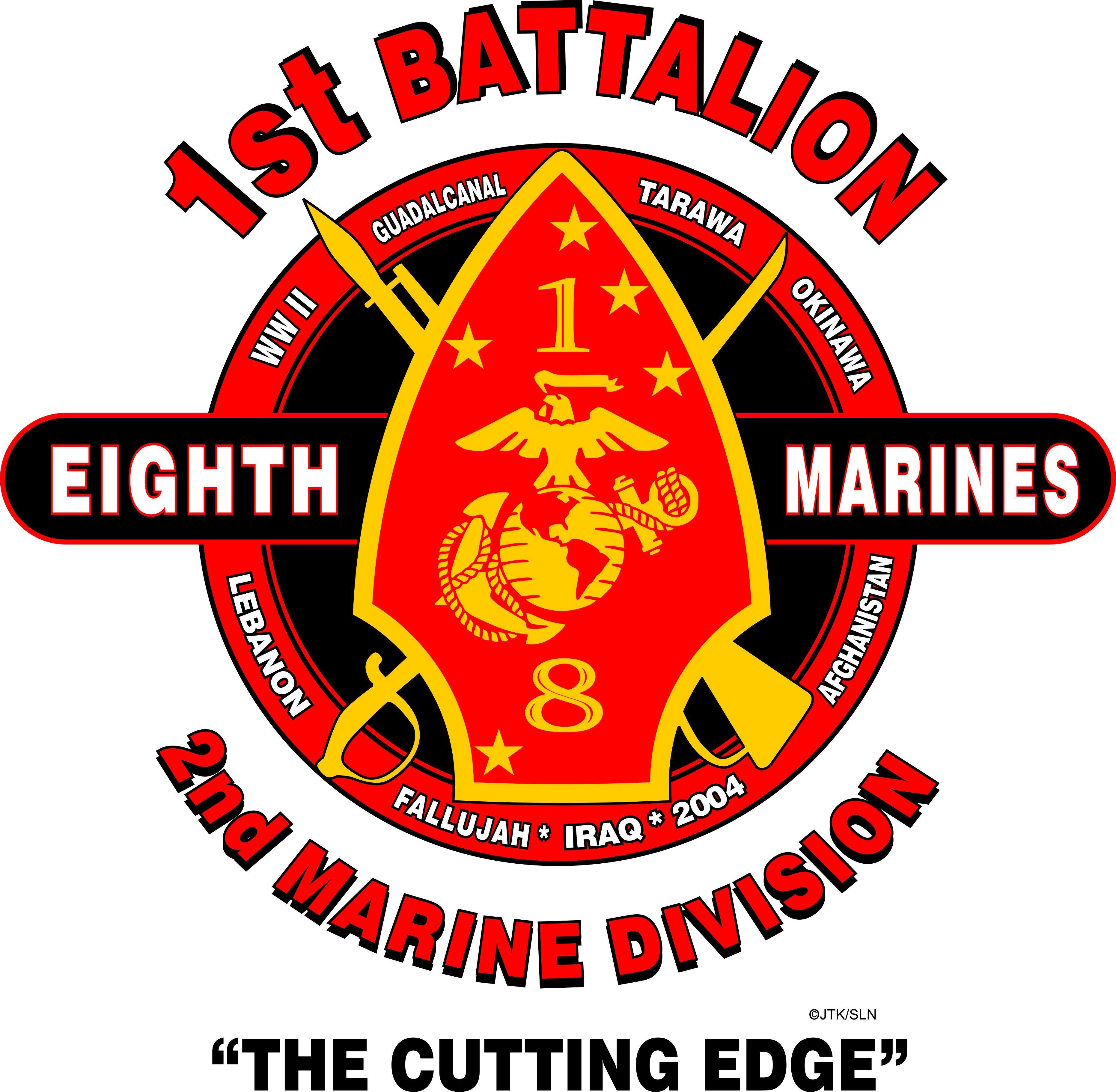 1st Battalion 1st Marine Regiment USMC US Marines Sweatshirt