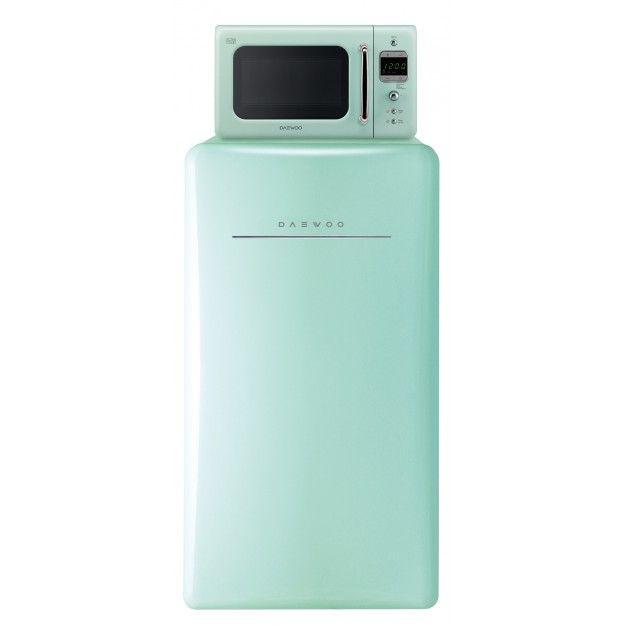 Daewoo Retro Compact Refrigerator 4 4 Cu Ft Mint Green Retro