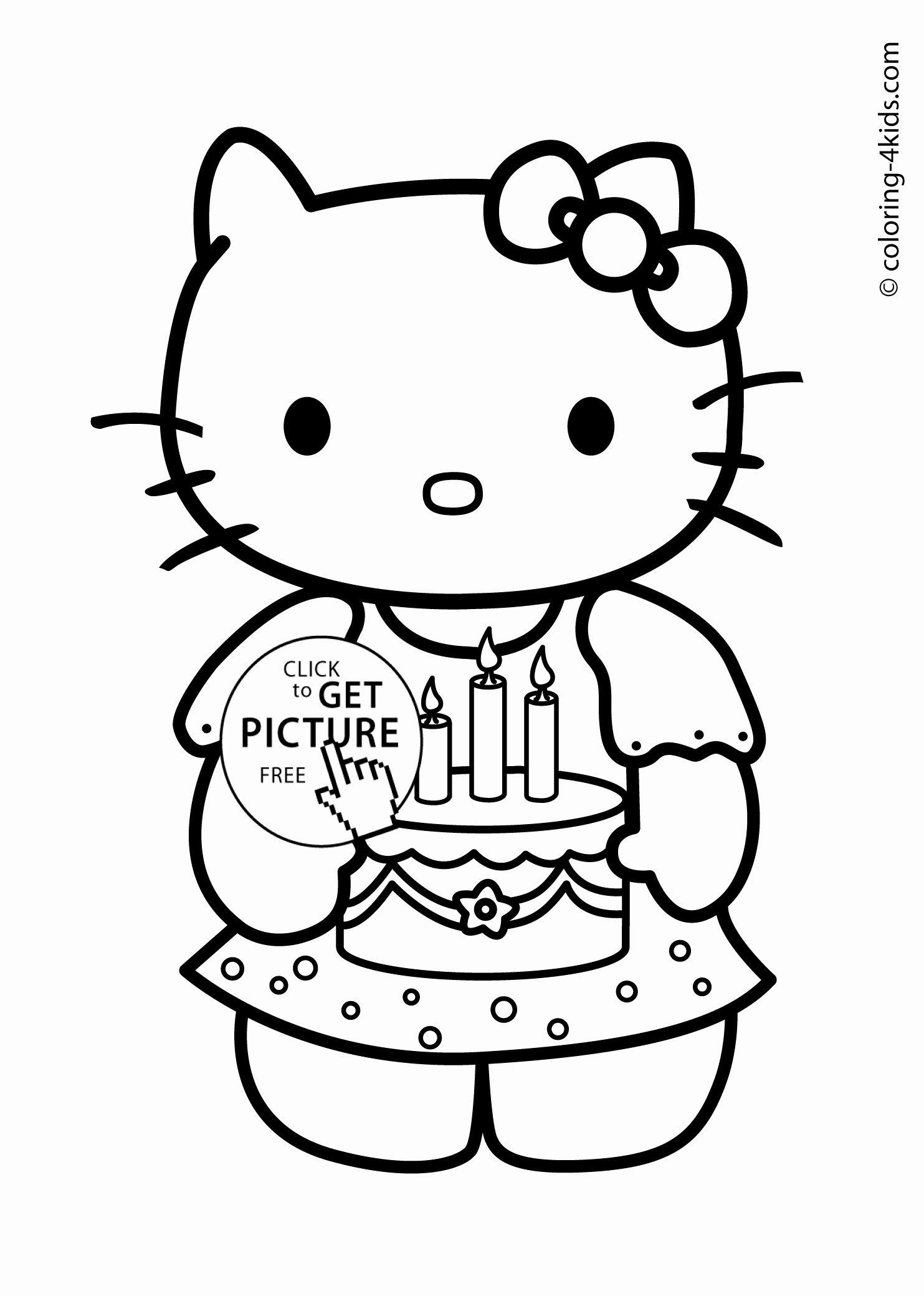 Printable Coloring Birthday Card Awesome Happy Birthday Drawing Cards At Getdrawings Hello Kitty Buku Gambar Warna