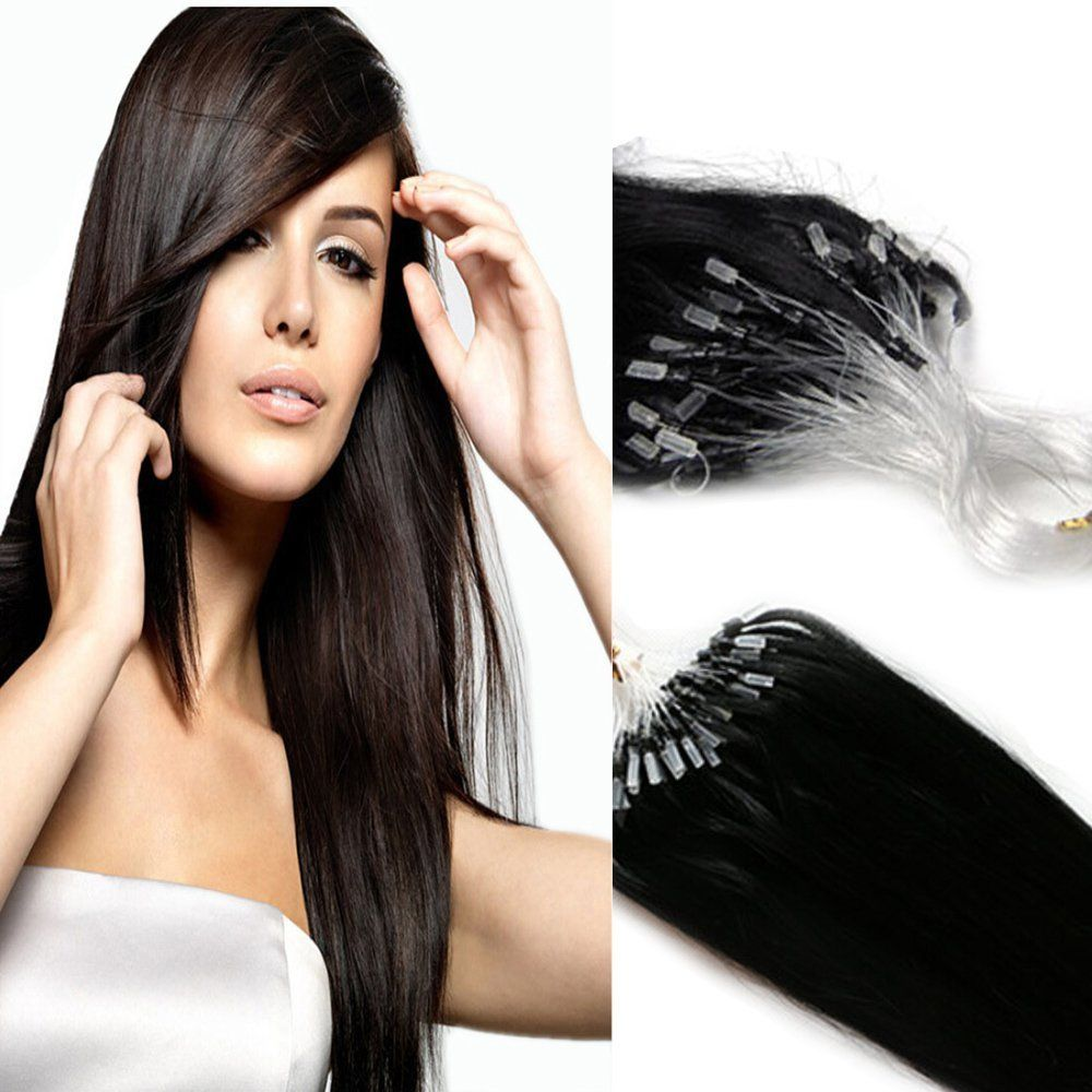 Yotty remy human hair extensions micro ring loop tip double drawn