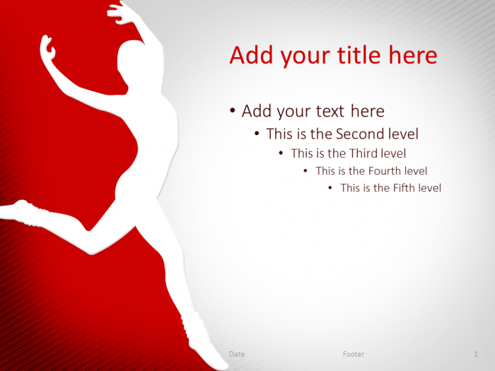Dance Powerpoint Template Red Presentationgo Sport