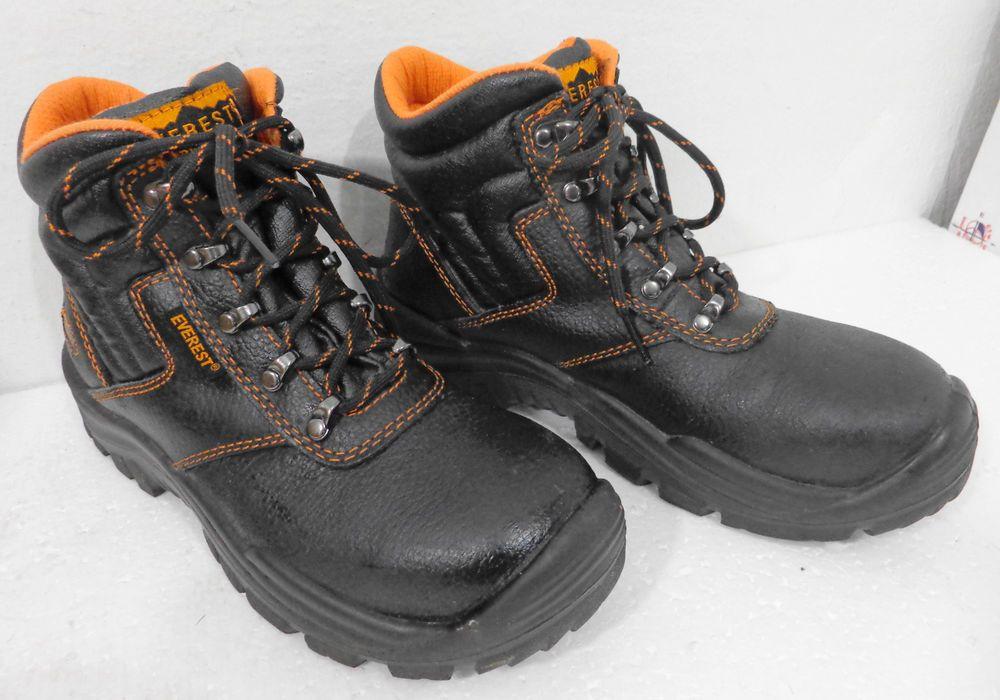 920079eae58 Everest Womens 8 - 8.5US 39EU Black Orange Safety Hiking Boots Mid ...