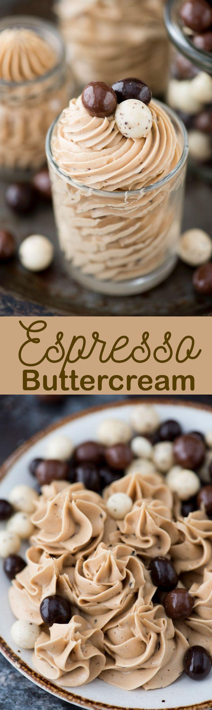 4 ingredient espresso buttercream recipe with instant
