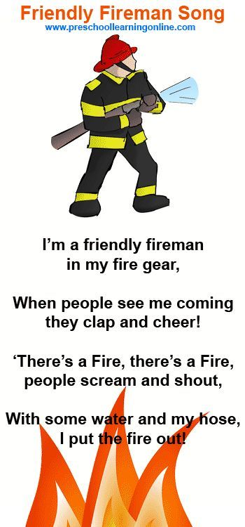 Fireman Song For Preschoolers And Pre K Kids Learning About