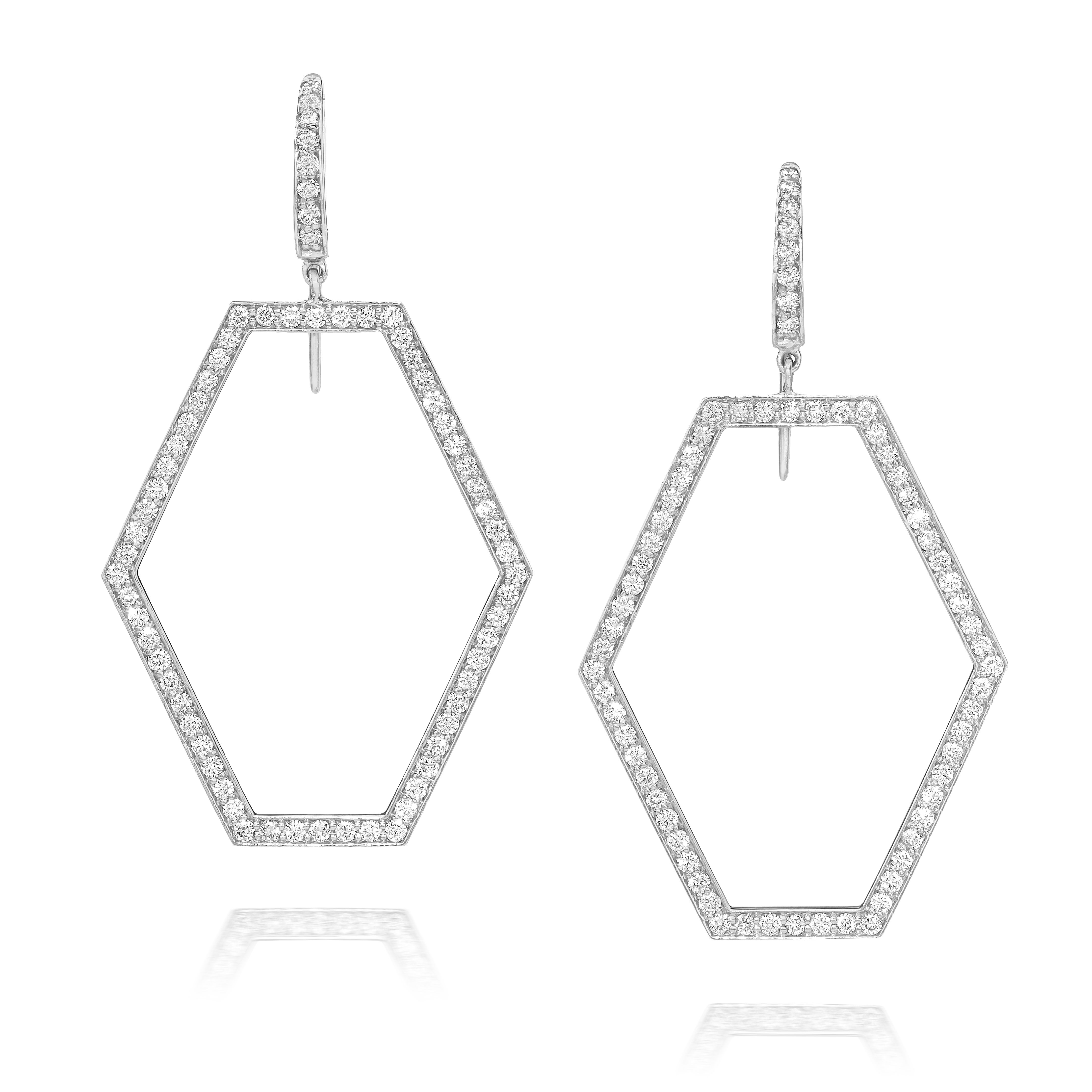 Walters Faith Keynes Seven Drop Signature Hexagon Chandelier Earrings PUHIdTQ