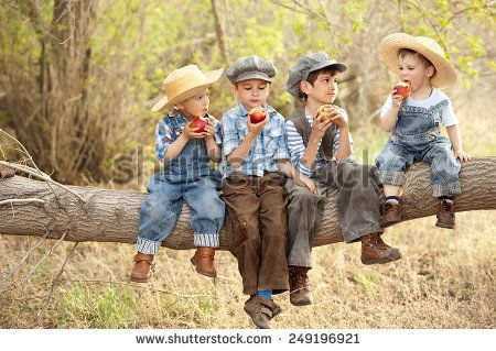 stock-photo-four-boys-eat-apples-sitting-on-a-tree-branch-in-a-sunny-summer-day-249196921.jpg (450×319)