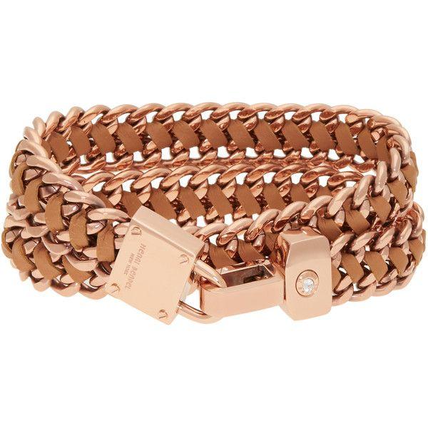 Henri Bendel Padlock Convertible Leather Wrap Bracelet Choker 98