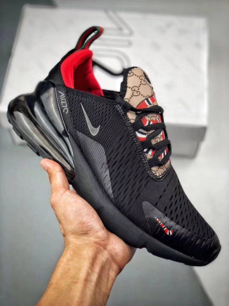 Gucci X Nike Air Max 270 Black Sneakers Nike Air Max Nike Air Max Gucci Shoes Price