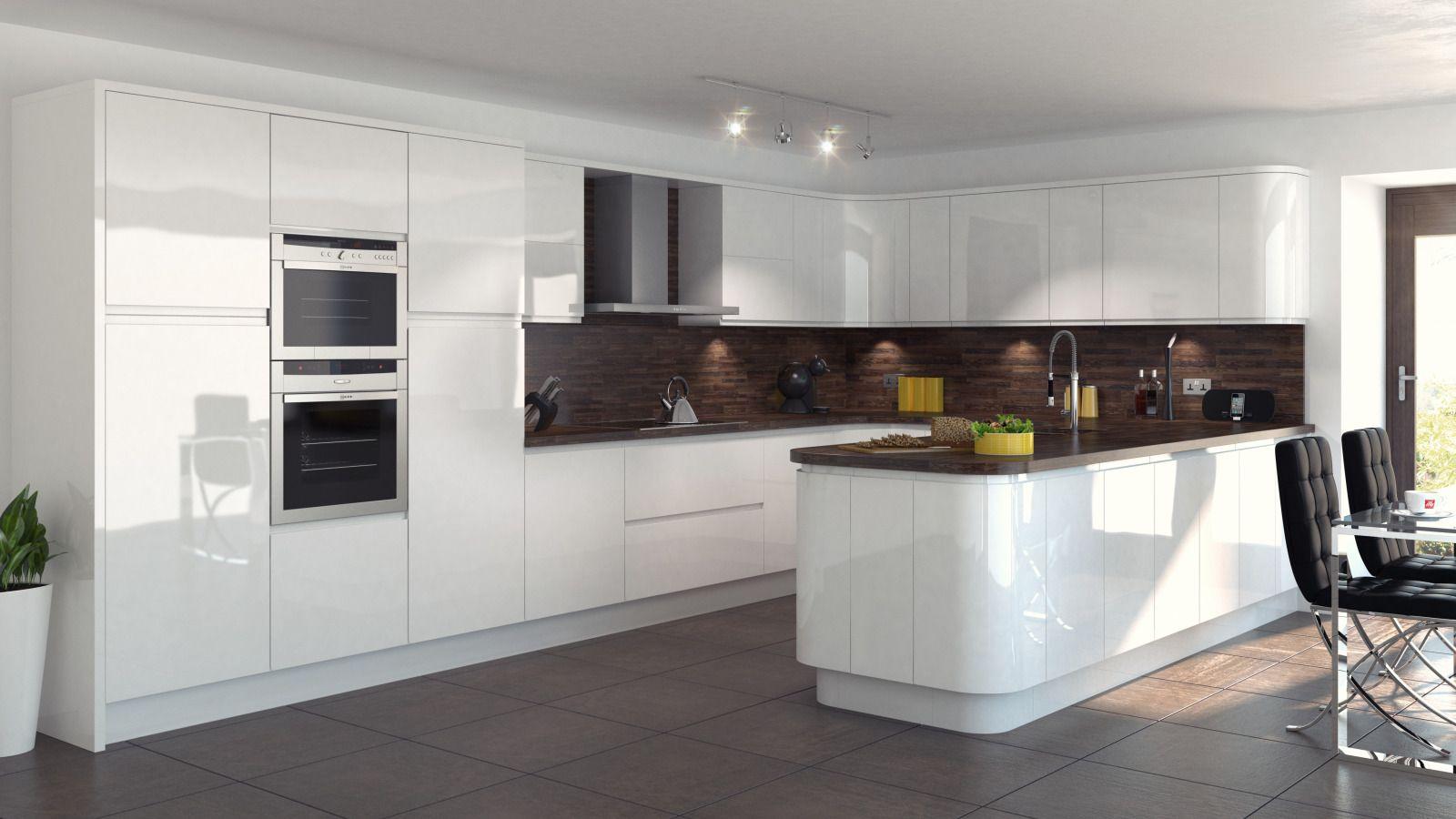 integral gloss white  mackintosh modern kitchens  omega