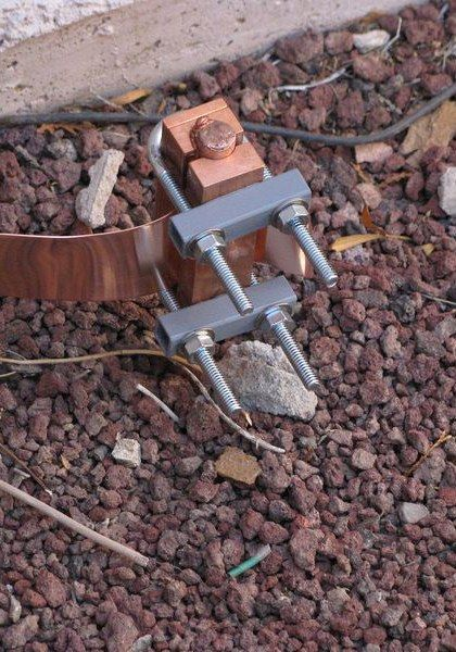 Installed Ground Clamp Electrical Wiring Home Electrical Wiring