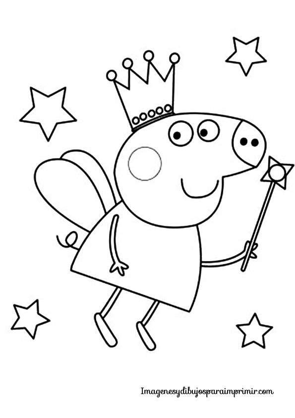 peppa pig disfrazada de hada para colorear | Sketch & draw | 색칠