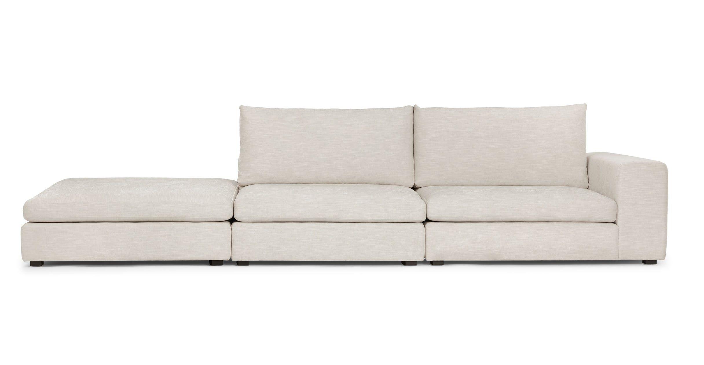 Gaba Pearl White Right Arm Modular Sofa Modular Sofa Modern