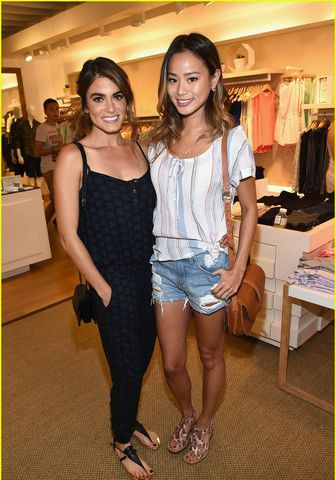 Nikki Reed and Jamie Chung were spotted looking adorable at a party in #LA.  Nikki looked comfortable in a jumpsuit by Splendid.  Jamie paired the collection's Canyondale stripe top with a pair of cutoff jeans.  #nikkireed #jamiechung #splendidla #fashion #style #celebritystyle
