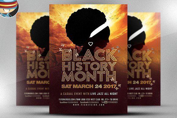 Black History Month V2 By FlyerHeroes On Creativemarket Templates
