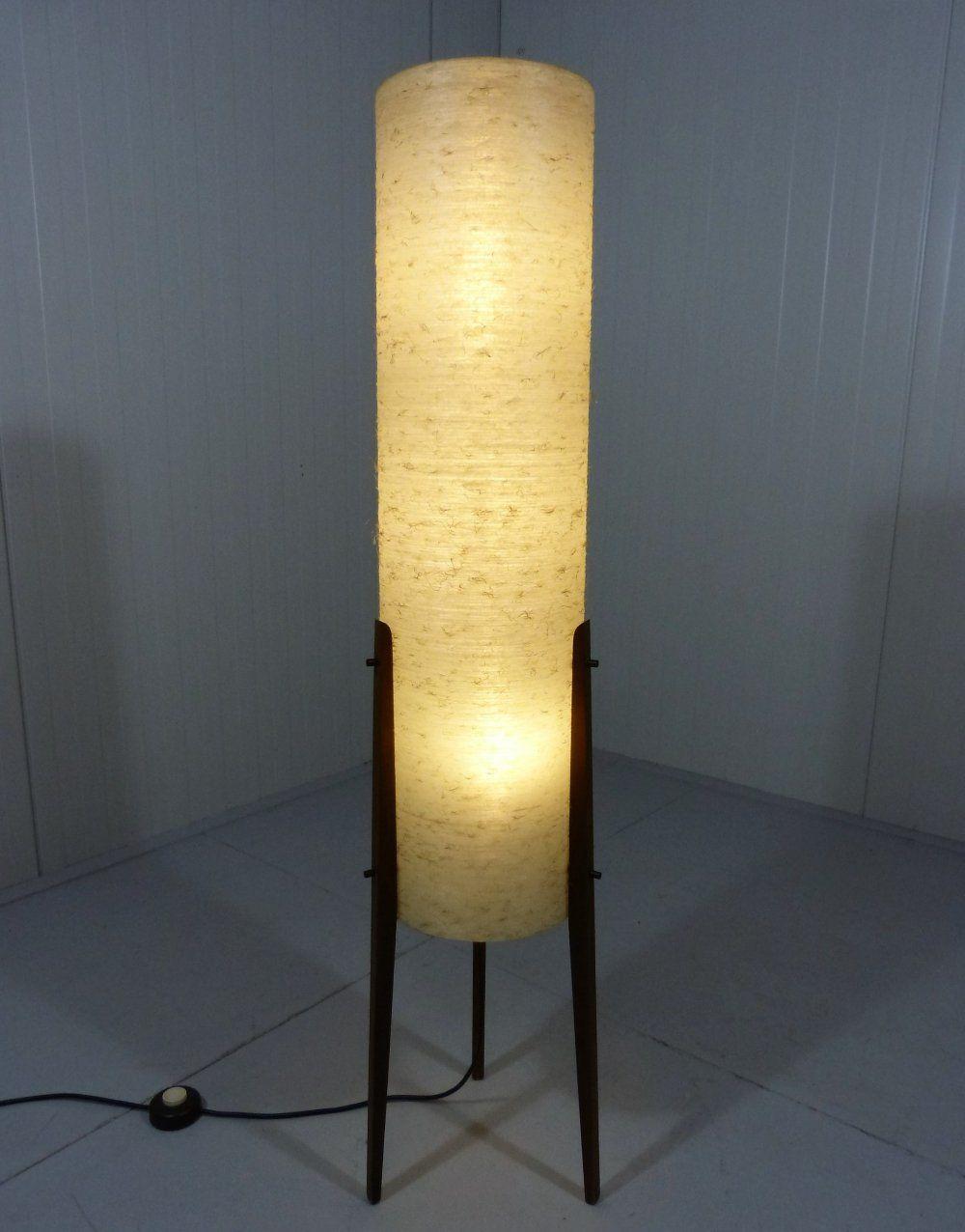 For Sale Rocket Floor Lamp In Teak Fiberglass 1950 S Wood Lamp Design Lamp Acrylic Floor Lamp