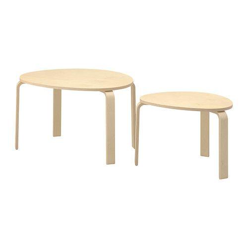 SVALSTA Tables gigognes, lot de 2 plaqué bouleau | Tables