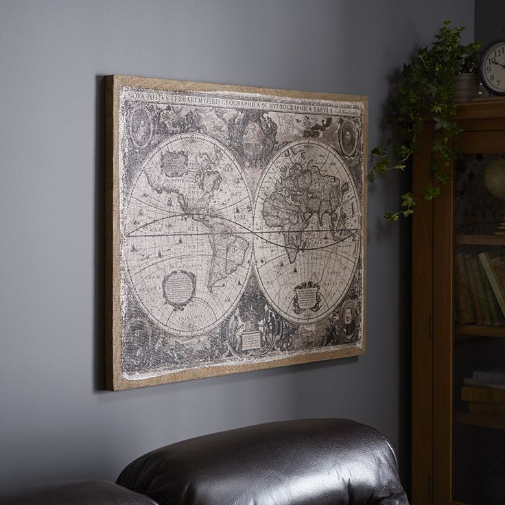 Add a unique touch to any room of the home with this linen world add a unique touch to any room of the home with this linen world map wall art available at the range homestyle autumnwinterstyle wallart gumiabroncs Choice Image